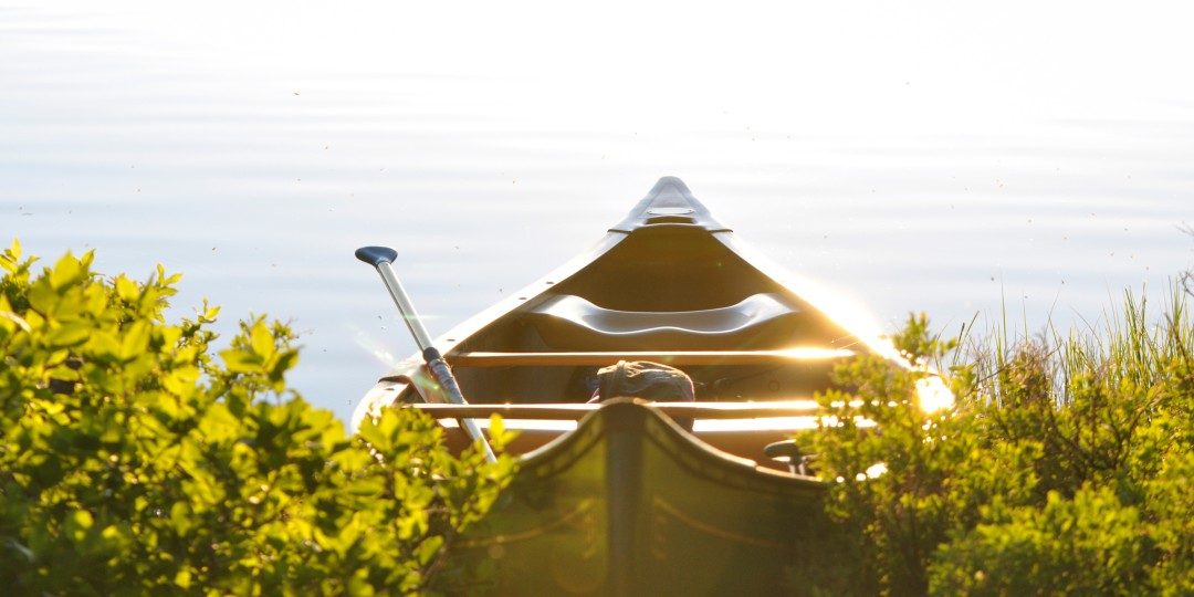 image of a peaceful boat on a lake