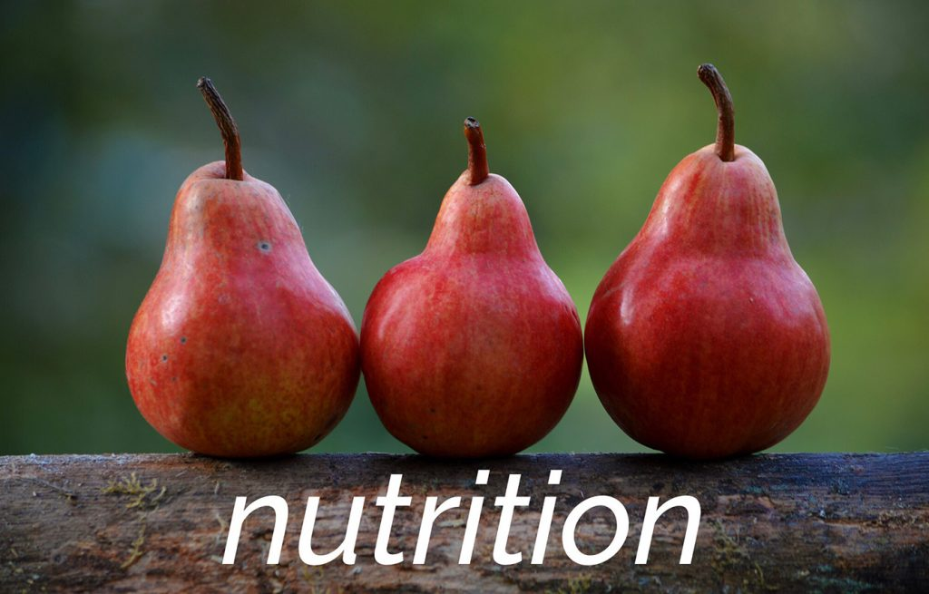 image of pears and the word nutrition